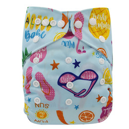 Discount christmas cloth diapers - Washable Diapers Couches Lavables Adjustable Baby Diaper Cover Wrap Print Baby Nappy Changing Reusable Baby Cloth Diaper
