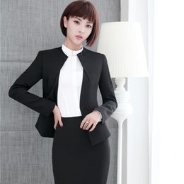 d3b7652e6109 Novelty Autumn Winter Formal Slim Fashion Blazers Suits With Jackets And  Skirt For Ladies Office Work Wear Business Outfits