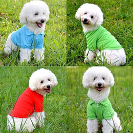 $enCountryForm.capitalKeyWord NZ - Dog Shirt Summer Pets Dogs Clothing Short Sleeve Cute Polo T-Shirts for Small Dogs Clothes Chihuahua