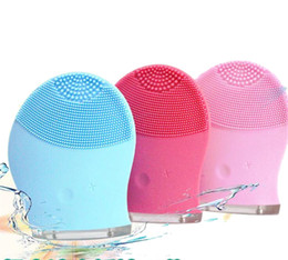 $enCountryForm.capitalKeyWord NZ - Electric Face Cleanser Vibrate Pore Clean Silicone Cleansing Brush Massager Facial Vibration Skin Care Spa Massage 3 Colors