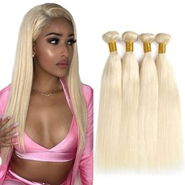 Discount honey blonde weave bundles - 613 Blonde Hair Weaves Peruvian straight human Hair 3 Bundles 100% Honey Straight Non Remy Hair Extensions