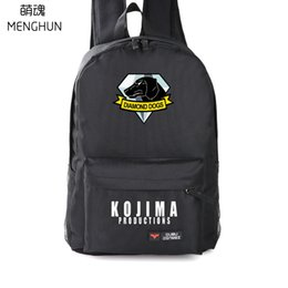 1c78911022fa cool TV game Metal gear 5 nylon backpacks MGS backpack Diamond dogs MGS fans  gift school bag high quality bag NB218