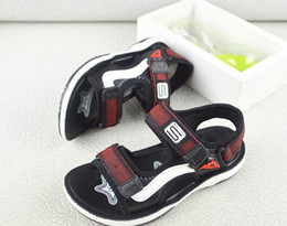 Wholesale Boys Sandals Leather Soft Sole comfortable Purple Red Buckle Strap Flat Footwear shoes