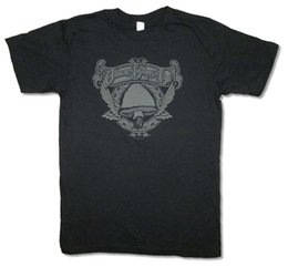 China Allman Brothers Band Winged Mushroom Black T Shirt New Soft Official Gregg O Neck T-Shirts Male Low Price Steampunk cheap mushroom prices suppliers