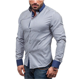$enCountryForm.capitalKeyWord Canada - 2018 Casual Shirts Men Fashion Long Sleeve Stripe Shirt Camisa Masculina Men Shirt Male Brand Clothing Large Size 3XL