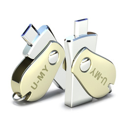 Venta al por mayor de Mini USB Pen Drive 16GB Flash Drive OTG para Android Teléfono Metal 8GB Memory Stick Pendrive Capacidad real 32GB Flash U Disco