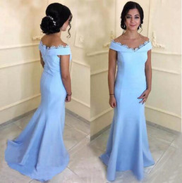 Chinese  Elegant Long Mermaid Mother Of The Bride Dresses For Womens Off Shoulder Lace Edge Wedding Guest Dress Arabic Party Evening Gowns manufacturers
