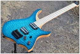 headless guitars 2019 - Scarce flocculent ASH piano maple headless electric guitar body flame maple neck xylophone noctilucent side product flam