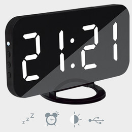China Hot Multifunction LED Mirror Alarm Clock Digital Clock Snooze Display Time Night Led Light Table Desktop Alarm Clock cheap alarm diy suppliers