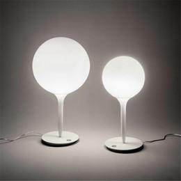 Table for office desk online shopping - Metal White Glass Ball Table Lamp Designer Modern Office Contemporary Desk Decorations Lamp For Bedroom Living Room Restaurant