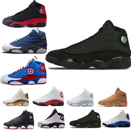 cheap flights shoes 2019 - Cheap 2019 New Mens Basketball Shoes 13 Bred Black True Red History Of Flight DMP Discount Sports Shoe Women Sneakers 13