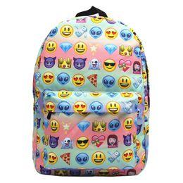90d14c13fb Fashion Cute Oxford Women Men Cartoon Emoji 3D Print Backpacks Travel  Students School Bags For Teenage Girls Boys