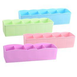 Ties bras online shopping - Plastic Storages Boxs Multi Function Desktop Drawer Clothing Storage Box Underwear Socks Bra Ties Organizer gy C R