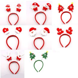 Bored Hair Australia - Christmas Headbands with Snowman Santa Claus Elk Bear Hair Band for Party festival Decorations adult kids children Xmas Gifts DHL free
