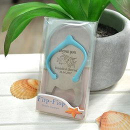 664f49565af87a 20x Personalized Wedding Anniversary Bridal Shower Party Favor Beach Wedding  Souvenir Mini Flip Flop Tong Bottle Opener with Box