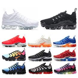 check out 4e428 f61f6 Nike air vapormax tn plus Uomo Scarpe da corsa Donna Sneaker Triple Bianco  nero Gioco Royal orange Trainer Sport Uomo Athletic Jogging Scarpe da  esterno 36- ...
