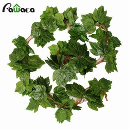 $enCountryForm.capitalKeyWord UK - 2.3M Long Artificial Plants Green Ivy Leaves Artificial Leaves Fake Foliage Plastic Garland Vine Wall Home Party Wedding Decor