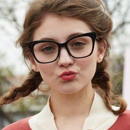 Computer Eyewear Glasses Australia - Reading glasses Cat Eye Computer Glass Women High Quality Brand Designer Vintage Eyewear