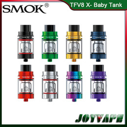 Discount smok tank airflow - Authentic SMOK TFV8 X-Baby Tank 4ML Adjustable Top Airflow System Atomizer With V8 X-Baby Q2 M2 Dual Coils Replaceable 1