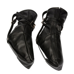 $enCountryForm.capitalKeyWord NZ - Female Foot Restraints Fetish Play Boot Bdsm Bondage Gear Slave Torture Adult Sex Products Faux Leather Black BXA419
