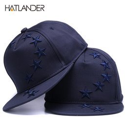 HATLANDER Solid embroidery kids baseball caps boys girls Stars snapback caps  children flat brim outdoor hats adjustable sun hat ad63144586c7