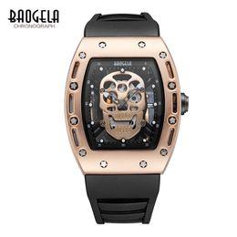 Discount pirates watches - BAOGELA New Skull Men Watches  Silicone Brand Pirate Hollow Watch Men Luminous Sports Wristwatch Relogio Masculino