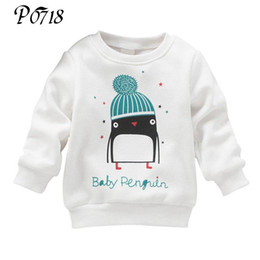 $enCountryForm.capitalKeyWord NZ - Baby Girls Winter Cashmere Clothes Tops 2018 Penguin Pattern Long Sleeve Warm Blouse Toddler Kids Cotton Pullover Thick Sweater