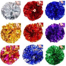 Hand Bouquet Color UK - 1pc Square dance cheerleading aerobics cheerleading ball hand flower bouquet