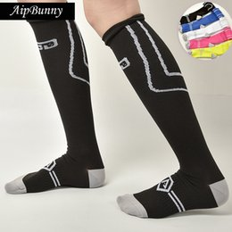 95f370f3596 AipBunny Men Boys Cotton Comfortable Leg Compression Long Socks Stretch  Relief Soft Socks Plain Over Knee sports High Sock