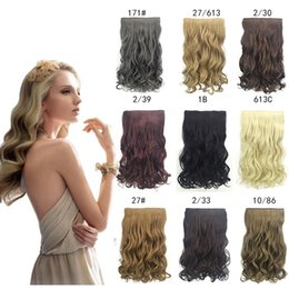 Wavy Hair Charms NZ - ZhiFan 20inch clip curly hair extension colours hair extensions wavy 613 charming natural wave long xtensions