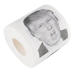 Funny Prank Gifts NZ - 2Rolls lot 250 Sheets Funny Donald Trump Printed Toilet Paper Roll Humour Prank Joke Tissue Paper Gag Gift Dump with Trump