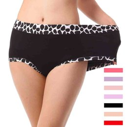 Wholesale 2Pcs Bamboo Stone Pattern Underwears Women Panties Plus Size XL Tall waist super large Sexy lingeries women s briefs