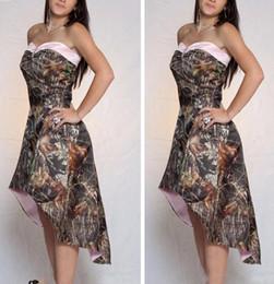 $enCountryForm.capitalKeyWord NZ - 2018 A Line High Low Camo Bridesmaid Dresses Short Customized Formal Vestidos De Bridesmaid Cheap Online Camouflage Honor Of Maid