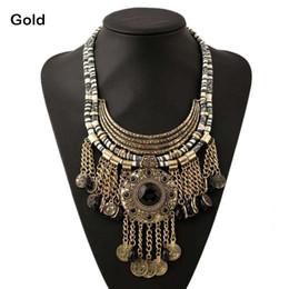 $enCountryForm.capitalKeyWord Australia - Women ancient coin Necklace Multilayer Metal crystal Tassels Necklace