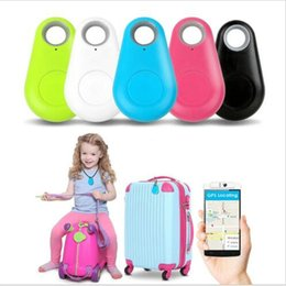 EN STOCK ship Mini Buscador Inteligente Bluetooth Tracer Pet Child GPS Locator Tag Alarma Monedero Key Tracker previene la falta
