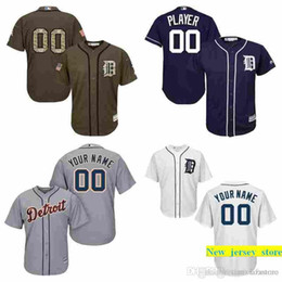 d4bd7068a87 Authentic mens Dt Tigers Custom Baseball Jersey blank Personalized any name  and number Embroidery logos stitched size S-3XL