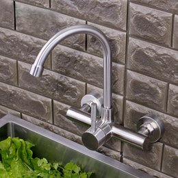 $enCountryForm.capitalKeyWord Australia - 304 stainless steel kitchen faucet into the wall big bend wash basin hot water faucet