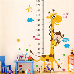 Wholesale Children s Room Wallpaper Cartoon Self Adhesive Wall Sticker Baby Measuring Height Sticker Wall Decoration Stickers H0097
