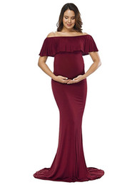 Chinese  Maternity Dress Maternity Photography Props Sexy Maxi Dress Elegant Fancy Pregnancy Photo Shoot pregnant Women Long Dress Free Shipping manufacturers