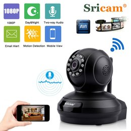 Card Surveillance Security NZ - Sricam SP019 1080P HD Home Surveillance Camera Baby Monitor Night Vision WiFi Indoor IP Security Camera P2P PTZ Support TF Card