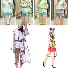 $enCountryForm.capitalKeyWord Australia - Good Creative Transparent Raincoat With Belt Long Rain Coat Women Jacket Waterproof Windbreaker Hooded Poncho Outdoors Rainwear