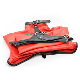 Wholesale Open Breast Straitjacket Hand Binder Strait Jacket BDSM Restraints Clothing Tie Up Bondage Gear Faux Leather Adult Sex Toys for Couples