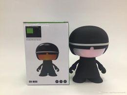 Usb Dolls UK - 1PCS New Bluetooth Speaker Mini Cartoon Doll Sound Robot Small Speaker Colorful Light Mini Speaker
