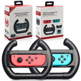 Racing games steeRing wheels online shopping - OIVO Left Right Racing Game Steering Wheel Handgrip Handle Grip Holder for NS Switch Joy Con Controller Gamepad Retail Box