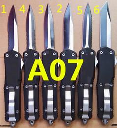 Vente en gros Combat TroodoTFn A07 double action Chasse automatique Couteau de pêche self défense Couteau Cadeau de Noël pour hommes C225 C212