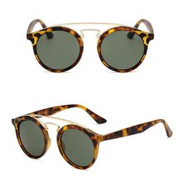 c508482727 designer sunglasses 4256F luxury brand designer sunglasses for men classic  retro small round frame glasses reflective film glass lenses 52mm