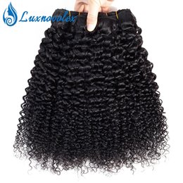 Peruvian Curly Human Hair Australia - Malaysian Curly Hair 3 Bundles Kinky Curly Human Hair Weaves 10A Unprocessed Brazilian Peruvian Indian Jerry Curly Human Hair Extensions