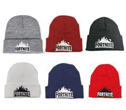 Game Fortnite Knitted Hats Battle Royale Beanie Winter Warm Skull Cap  Fedora Men Women Crochet Hat Hip Hop Knitting Caps Outdoor Beanies 18cad8d4010e