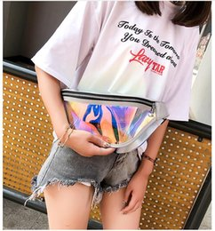 Discount quality pvc handbags - Zipper Waist Packs Girls Laser PVC Shinning Fanny Pack Bag Fashion Top Quality Women Men Waist Bag Bust Belt Handbag Pvc