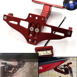 $enCountryForm.capitalKeyWord NZ - For Moto License plate Bracket License Plate Holder Frame Number Plate For ducati monster 696 1199 1198 1098 848 695 748   750SS